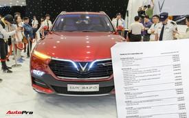 """Khách Việt mất thêm bao nhiêu tiền nếu mua sedan, SUV VinFast """"full option""""?"""