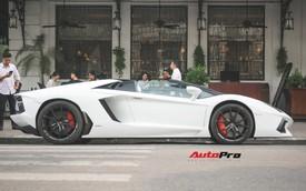 Lamborghini Aventador Roadster từng của Cường Đô-la lạ lẫm sau khi qua tay đại gia Hà thành