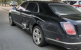 Bentley Mulsanne hàng chục tỷ đồng bị thủng sườn sau va chạm liên hoàn tại Hà Nội