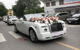 Đám cưới đại gia Hà thành quy tụ Rolls-Royce Phantom Drophead Coupe và cặp Range Rover đúng ngày Việt Nam vô địch