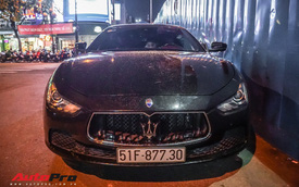 Hồ Ngọc Hà cầm lái Maserati Ghibli S Q4 dạo phố
