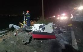[NÓNG] Va chạm trên đèo Hải Vân, xe bồn lao xuống vực cháy nổ, tài xế tử vong