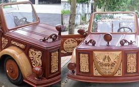 Ô tô bằng gỗ với động cơ BMW tự chế của thợ Việt vẫn bền bỉ theo năm tháng