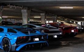Dàn siêu xe khủng bị phủ bụi, nằm chờ trong garage
