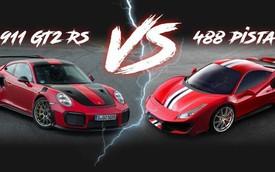 Ferrari 488 Pista và Porsche 911 GT2 RS: Cuộc chiến qua những con số