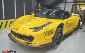 Khám phá hệ thống treo khí nén hàng độc trên Ferrari 458 Italia Liberty Walk tại Car & Passion 2018