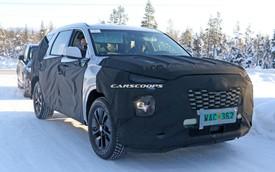 Hyundai chạy thử mẫu SUV cỡ lớn đầu tiên - đàn anh Santa Fe 2019