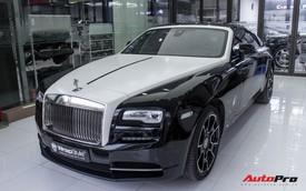 Rolls-Royce Wraith dán decal đổi màu phong cách Black Badge tại Hà Nội