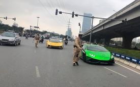 Vừa ra khỏi khách sạn, đoàn siêu xe Sài Gòn đã bị cảnh sát giao thông Hà Nội tuýt còi