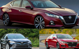 So kè Nissan Altima 2019 với Toyota Camry, Honda Accord