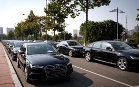 Dàn 70 chiếc xe sang Audi tham gia hai hội nghị lớn tại Hà Nội