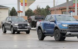Ford Ranger Wildtrak bị bắt gặp chạy thử cạnh Ranger Raptor tại Mỹ