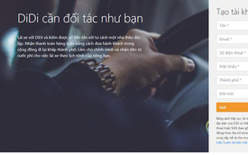 """Ứng dụng Didi nhái """"vua gọi xe Trung Quốc"""" tiếp tục xuất hiện tại Việt Nam, chiêu mộ tài xế cũ của Uber"""
