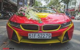 Xe hoa BMW i8 dán decal phong cách Iron Man tại Sài Gòn