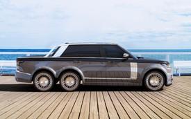 Một chiếc Range Rover bán tải 6 bánh đang chuẩn bị được lắp ráp