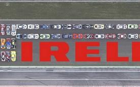 41 siêu xe, 12 thương hiệu, 22.000 mã lực và logo Pirelli lớn nhất thế giới