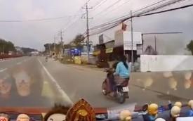 Bình Dương: Tạt đầu ô tô, xe máy bị truy đuổi tốc độ cao trên quốc lộ như phim hành động