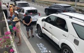 """Hàng nghìn ô tô """"chôn chân"""" từ sáng đến trưa trên cao tốc TP. HCM - Long Thành sau 2 vụ tai nạn liên tiếp"""