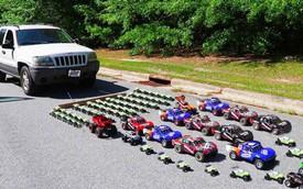 Mất bao nhiêu xe đồ chơi để có thể kéo một chiếc xe thực thụ lăn bánh?