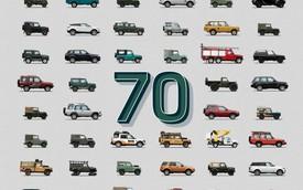 Đã 70 năm kể từ ngày chiếc Land Rover đầu tiên ra mắt thế giới