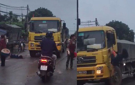 Hà Nội: Cô gái bất ngờ ra giữa đường chặn đầu xe tải rồi đánh đu lên gương xe khiến nhiều người hoảng hốt