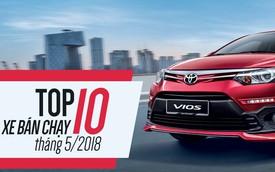 10 xe bán chạy nhất tháng 5/2018: Bùng nổ xe lắp ráp của Toyota, THACO, Honda và Ford