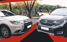 Cùng 7 chỗ, chọn Honda CR-V nhập hay Mitsubishi Outlander lắp?