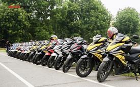 Hàng chục xe Honda Winner thả dáng tại Hà Nội