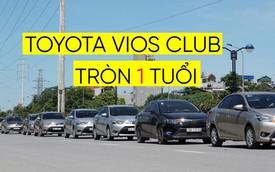 Gần 100 xe Toyota Vios diễu hành mừng sinh nhật lần đầu tiên tại Hà Nội