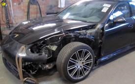 8 ngày cứu Porsche Panamera rách nát về như mới