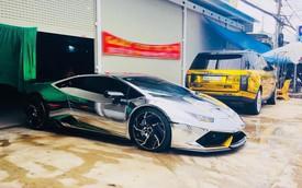 Lamborghini Huracan hàng độc và Range Rover của dân chơi xe Bạc Liêu thay dàn áo chrome kiểu đại gia Dubai