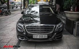 Đại gia Sài Gòn sắm Mercedes-Maybach S600 biển 998.99 đối cặp với Ferrari 889.88 của Tuấn Hưng