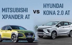 Cùng tầm tiền, chọn Mitsubishi Xpander AT hay Hyundai Kona 2.0 AT?