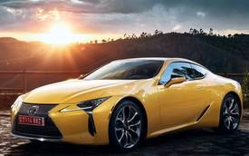 Xe thể thao Lexus LC đi tắm nắng với Yellow Edition