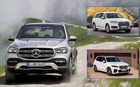 So tài SUV sang: Mercedes-Benz GLE 2019 đối mặt Audi Q7, BMW X5