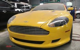 Aston Martin DB9 màu vàng độc nhất Việt Nam bị chủ nhân bỏ mặc, nằm phủ bụi tại garage