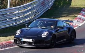 Porsche 911 Turbo lộ diện, trình làng cánh gió chủ động mới