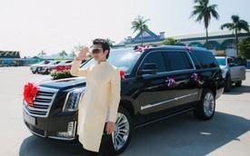 """Xe """"Khủng long Mỹ"""" dẫn đầu đoàn rước dâu hoành tráng ở Quảng Ninh"""