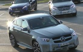 Mercedes-Benz GLC, GLC Coupe 2019 lộ ảnh thử nghiệm với đèn pha giống Ford Transit