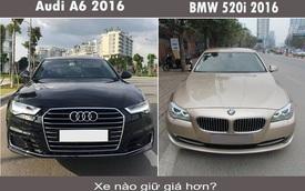 BMW 520i - Audi A6 2016: đi chưa đến 20.000km, xe nào giữ giá hơn?