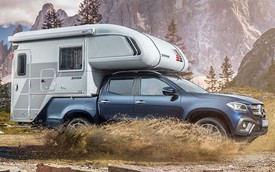 Bán tải hạng sang Mercedes-Benz X-Class biến thành xe cắm trại