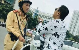 Hà Nội: Thanh niên đi SH lớn tiếng thách thức khi bị CSGT dừng xe vì không đội mũ bảo hiểm