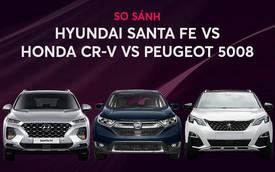 [Infographic] Chờ Hyundai Santa Fe 2019 hay đổi cọc sang Honda CR-V, Peugeot 5008?