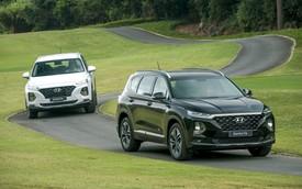 """Chênh 190 triệu đồng, Hyundai Santa Fe 2019 """"full option"""" hơn gì bản tiêu chuẩn?"""