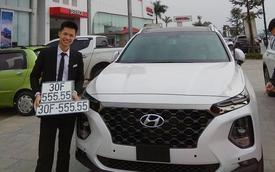 Bàn tay vàng trong làng bốc biển: Chủ xe Hyundai Santa Fe 2019 rinh biển ngũ quý 5 tại Hà Nội