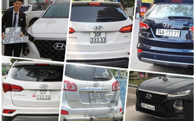 Bộ sưu tập Hyundai Santa Fe mang biển số 'khủng' tại Việt Nam: Hà Nội chiếm ưu thế