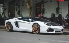 """Đại gia Hà thành thay """"vó ngàn đô"""" cho Lamborghini Aventador Roadster đón Tết Nguyên Đán"""