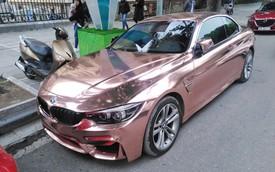BMW 4-Series mui trần diện bộ cánh chrome vàng hồng đón Tết tại Hà Nội