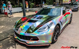 Chevrolet Corvette C7 Stingray 'bảy sắc cầu vồng' lạ lẫm tại Sài Gòn