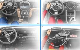 Xem nội thất MINI Cooper tiến hóa qua hàng chục năm qua: Từ không có gì tới quá phức tạp